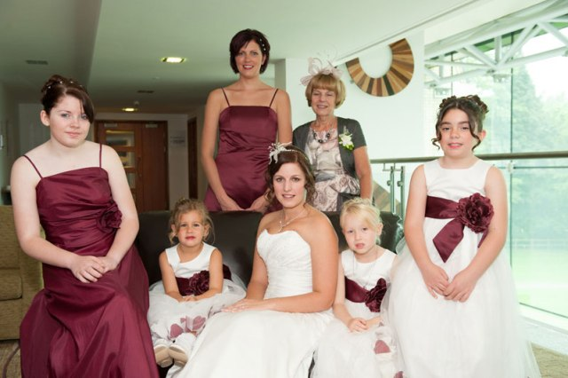 wedding hair and make up tips,bridal party getting ready after there hair and make up Staffordshire