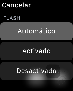 Flash en app cámara en Apple Watch