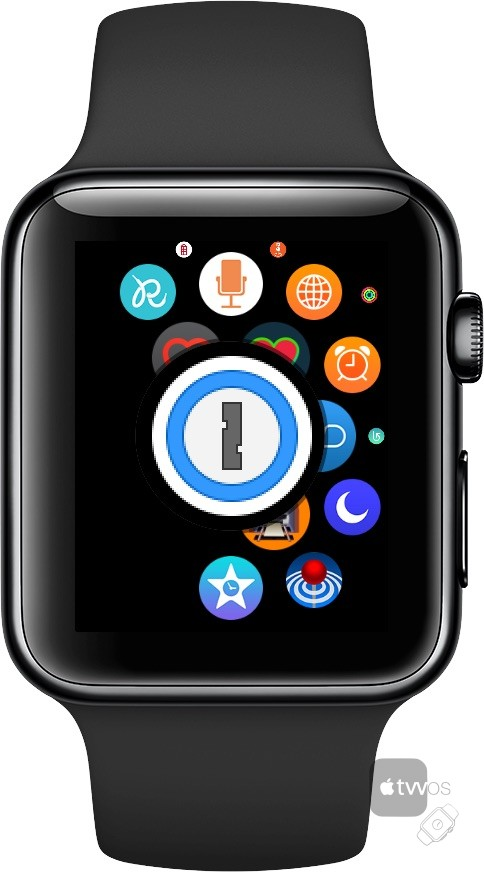 icono de 1Password en Apple Watch