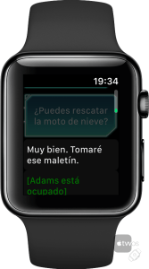 Infierno Blanco en Apple Watch