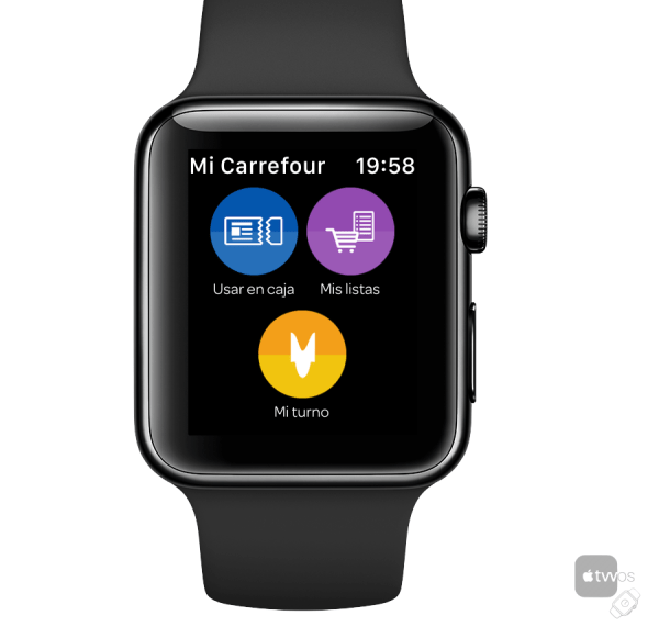 App Carrefour en Apple Watch