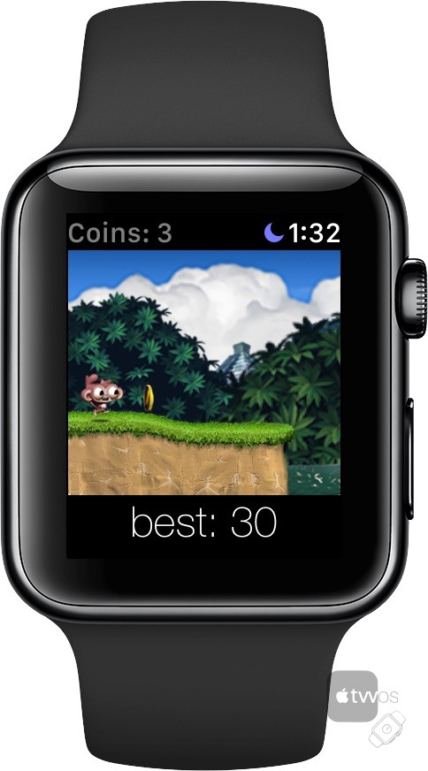 Dare the Monkey en watchOS
