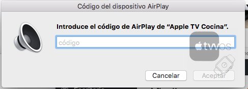 Código AirPlay para Apple TV