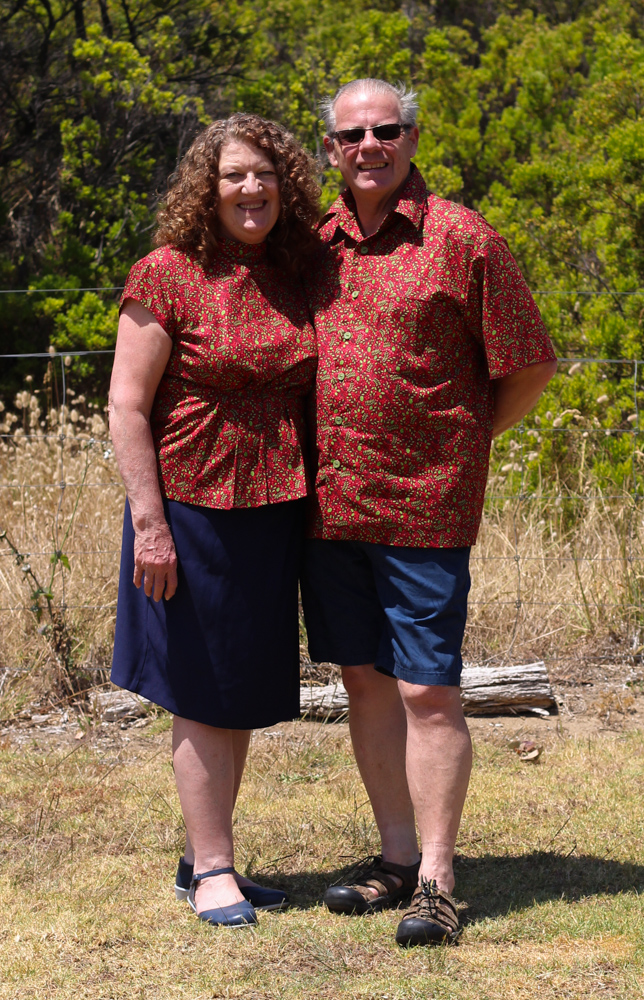 Ritchie Family Christmas Outfits Robyn (Mum) is wearing Simplicity 8840 and David (Dad) is wearing McCall's 4399