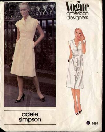Knots and Crosses Sewing Competition Vogue 2684