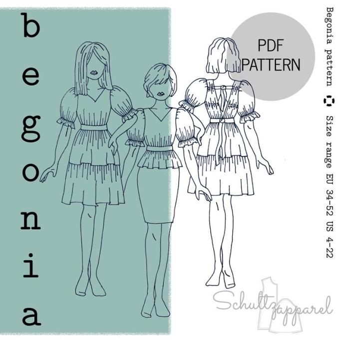 Begonia by Schultz Apparel in Fabric Hoarders Polka Dots