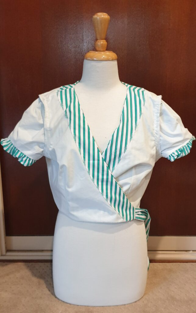 Garment Construction for Ottilia Top from Schultz Apparel by Two Sewing Sisters