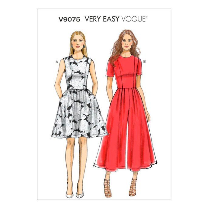 Vogue 9075 - Minvera Red Fabric - Two Sewing Sisters