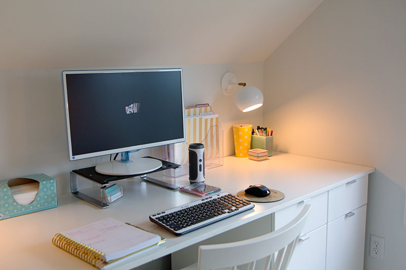Craft Studio and Home Office Reveal - Work Desk Close-Up