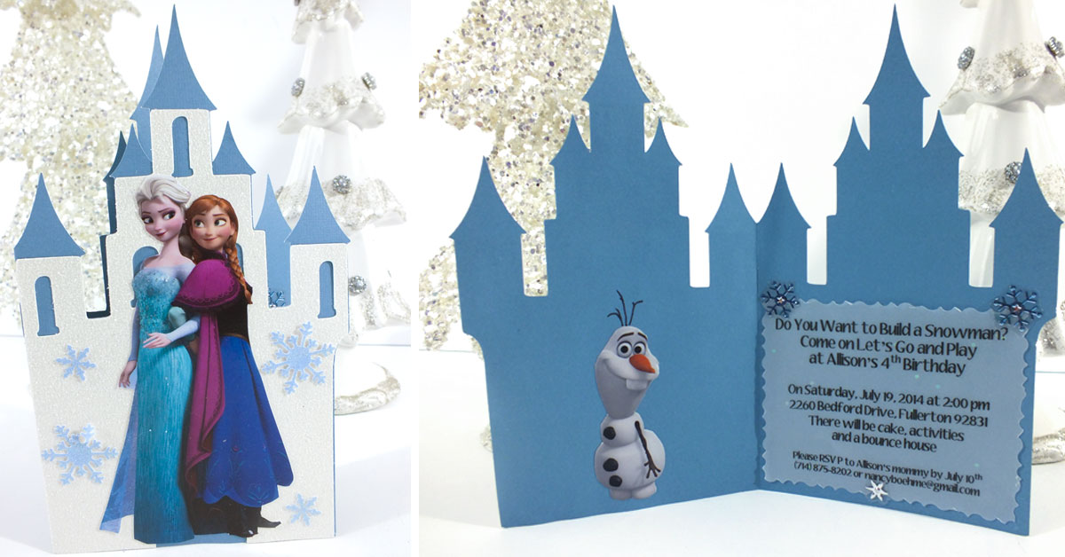 Frozen Birthday Party Invitations Two Sisters