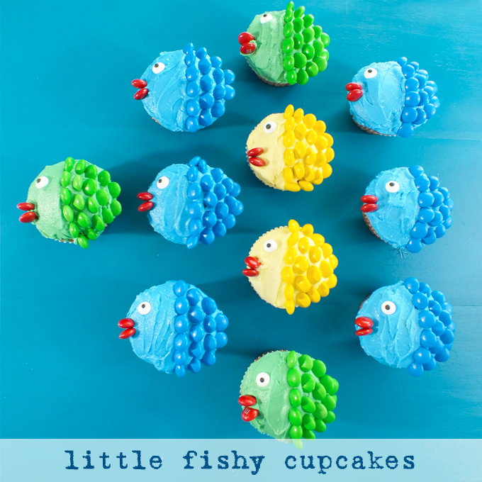 Little Fishy Cupcakes Two Sisters Crafting