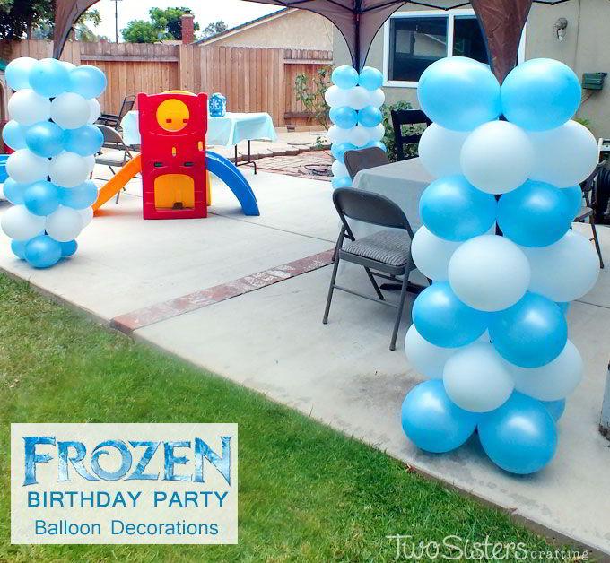 Frozen balloon decoration ideas for Frozen balloon ideas