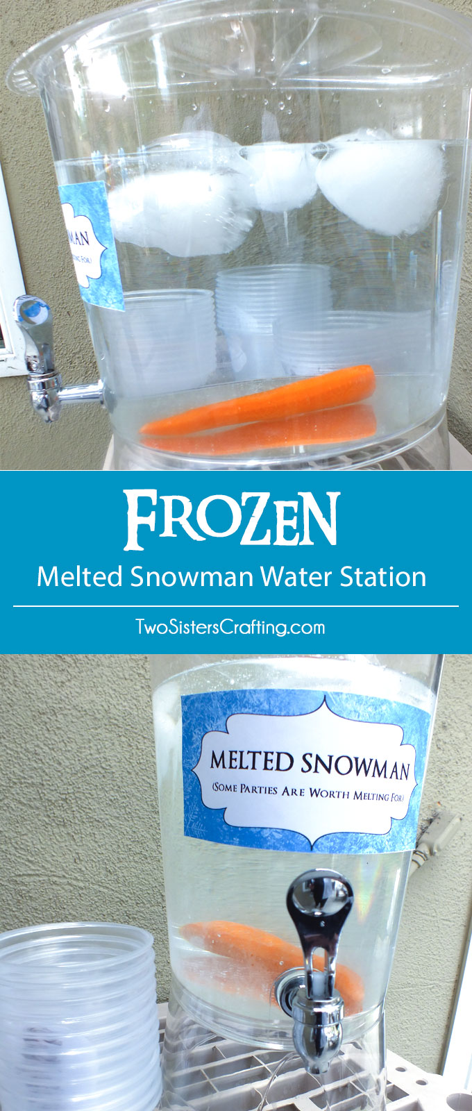 Melted Snowman Water Bottle Labels Free Printable Christmas