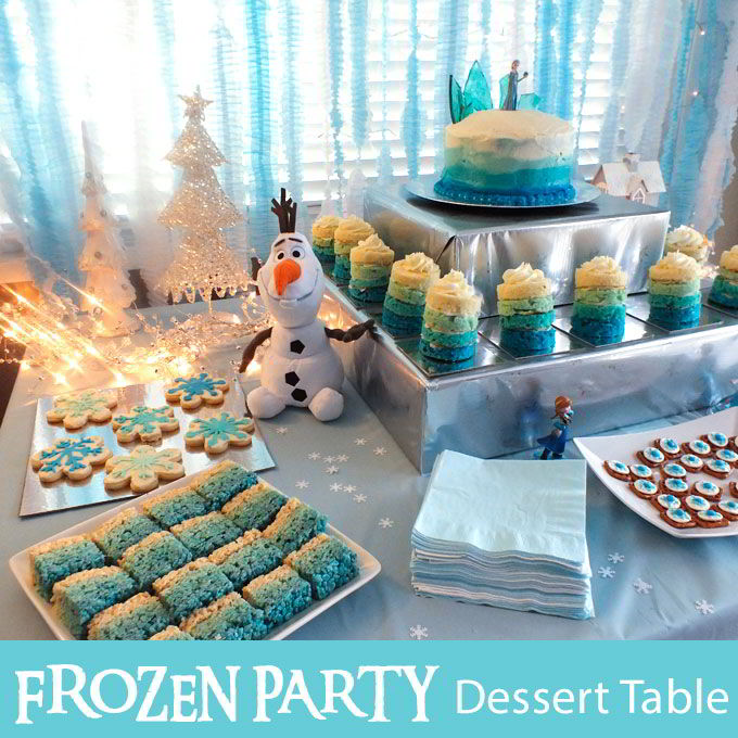 Disney Frozen Dessert Table Two Sisters