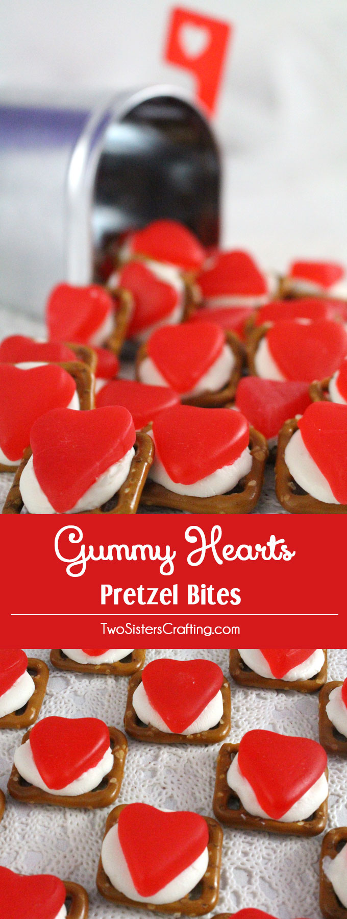 Gummy Hearts Pretzel Bites Two Sisters