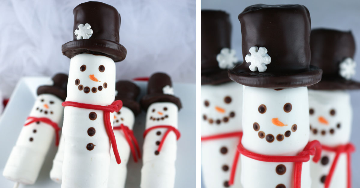 Snowman Marshmallow Pops Two Sisters
