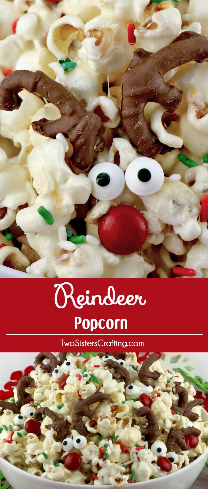 Reindeer Popcorn Two Sisters Crafting