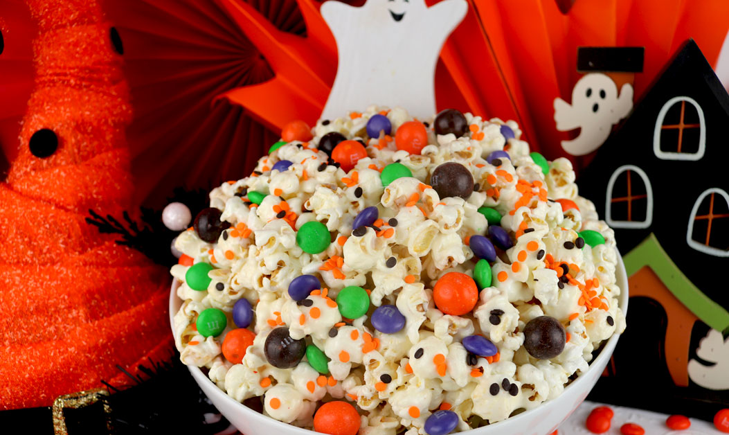 Trick Or Treat Halloween Popcorn Two Sisters