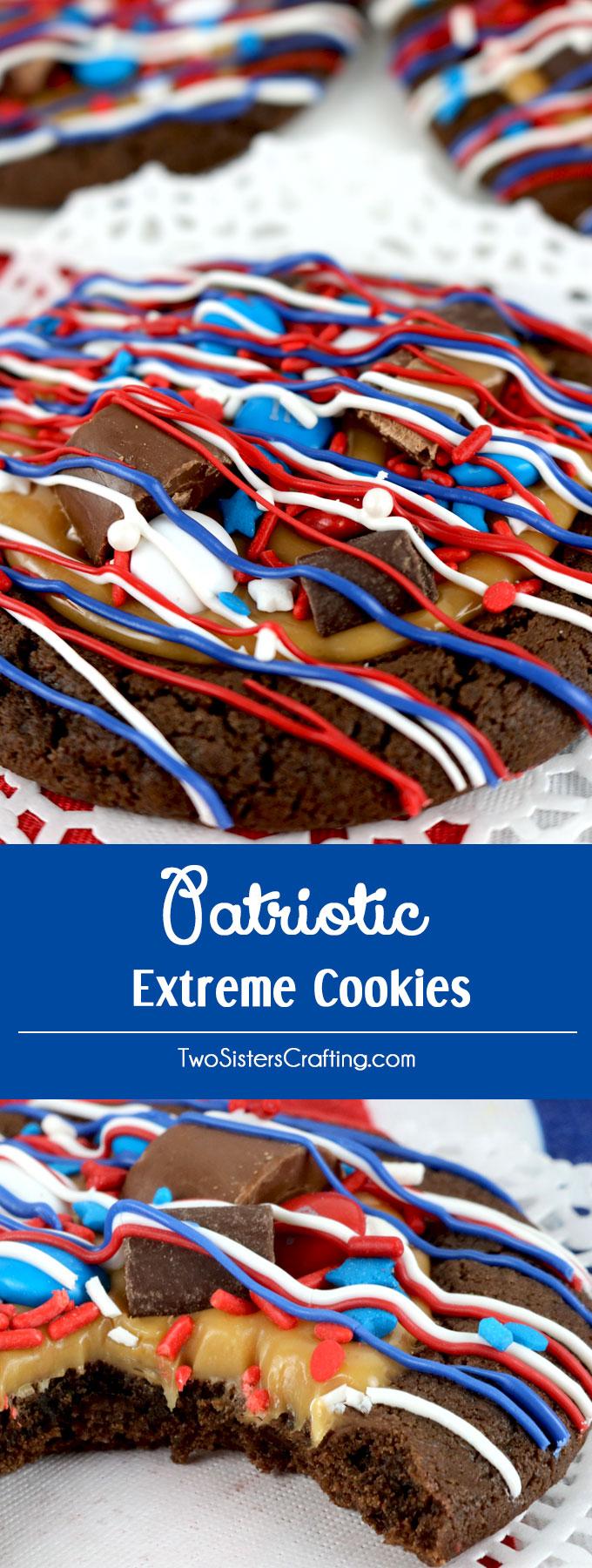 patriotic extreme cookies - two sisters crafting