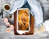 healthy banana bread before baking