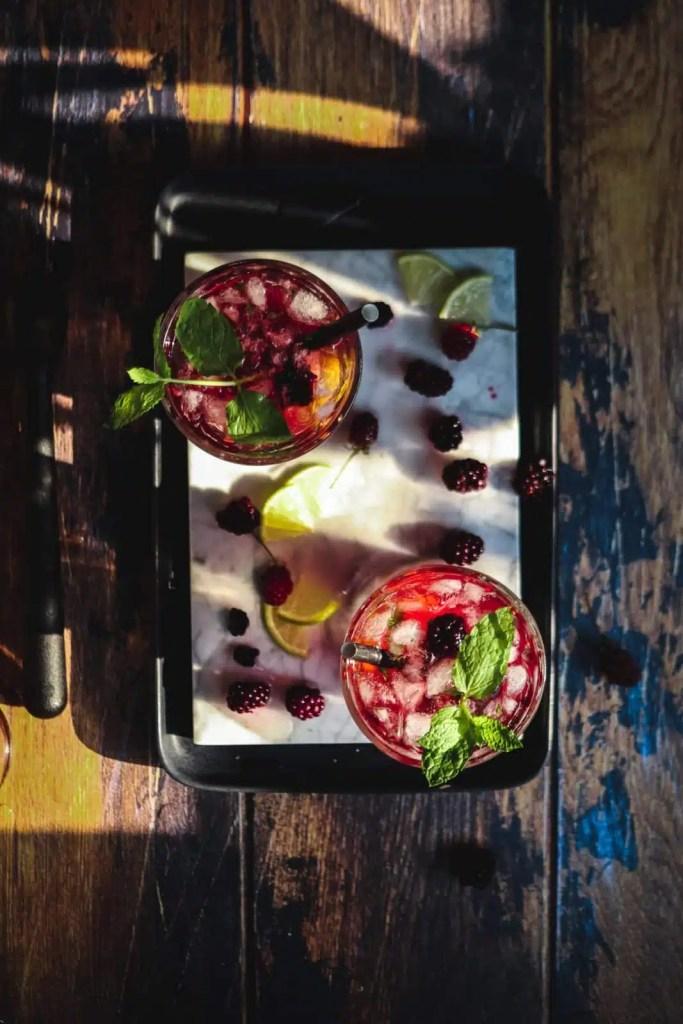Summer Nights Blackberry-Lavender Mojitos