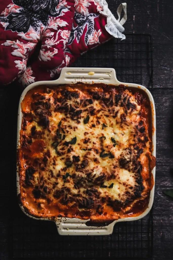 Kohlrabi lasagna casserole