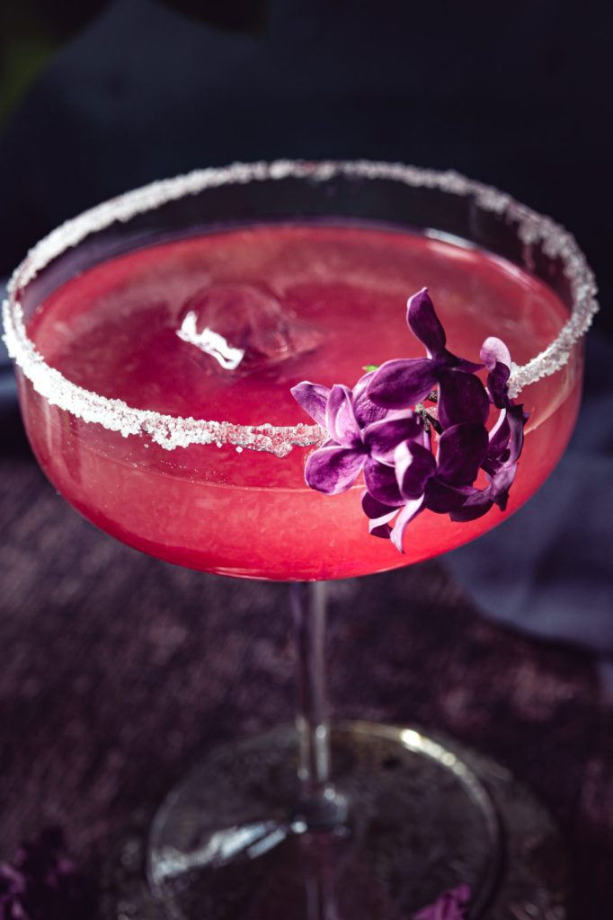margarita recipe, Tequila cocktail, lilac blossom, voilet , brunch recipes , party cocktail, hand crafted, floral
