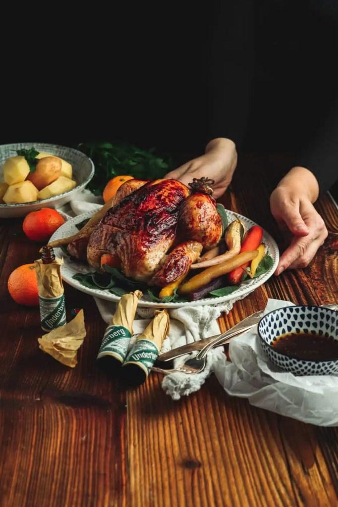 roasted chicken recipes, easy chicken recipes, dinner recipes, dinner ideas, chicken glaze recipes, cranberry glaze, turkey glaze recipes