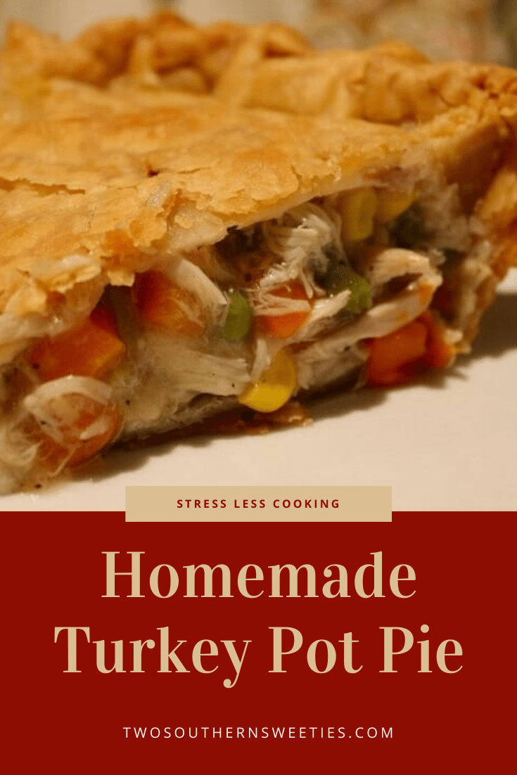 Homemade Turkey Potpie - Your family will absolutely love this simple and delicious potpie recipe. It can be made with either Turkey or Chicken.