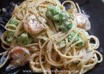 Shrimp and Broccoli with Creamy Garlic Pasta