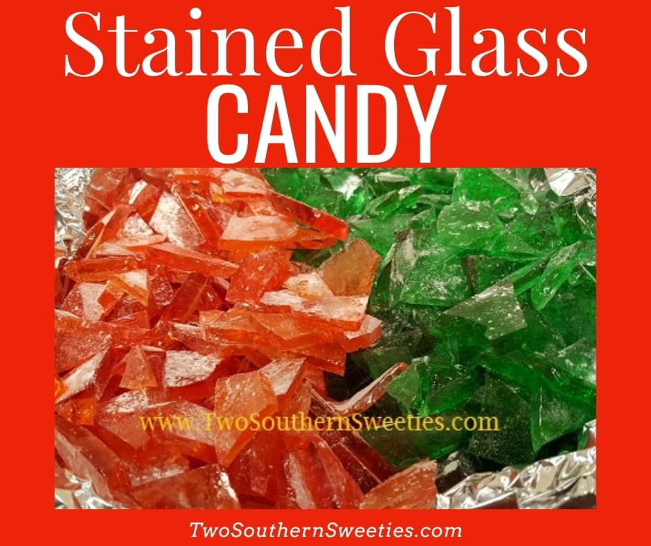 Stained Glass Candy has been a family tradition in my family for many years. This hard candy is super simple and is basically just corn syrup and sugar with flavoring and food coloring. This Christmas candy looks just like the pieces of a stained glass window. #christmascandy #christmasrecipes #christmastraditions