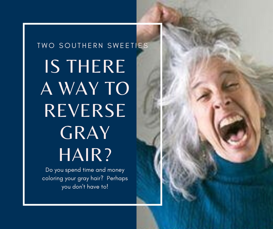 Do you spend your time and money coloring your hair to get rid of the gray? Now you may not have to. There may be a way to reverse gray hair. Gray Hair | Grey Hair | Aging | 50 Plus | Menopause | Life After 50 | #aging #grayhair