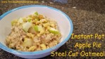 Instant Pot Apple Pie Steel Cut Oatmeal