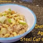 Instant Pot Apple Pie Steel Cut Oatmeal