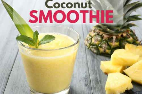 Tropical Coconut Smoothie - A taste of the islands to keep you hydrated and cool during these hot summer months, or anytime.