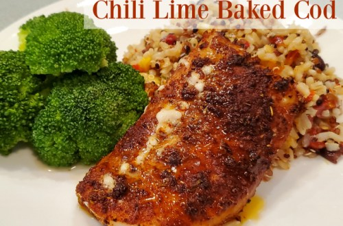 Chili Lime Baked Cod