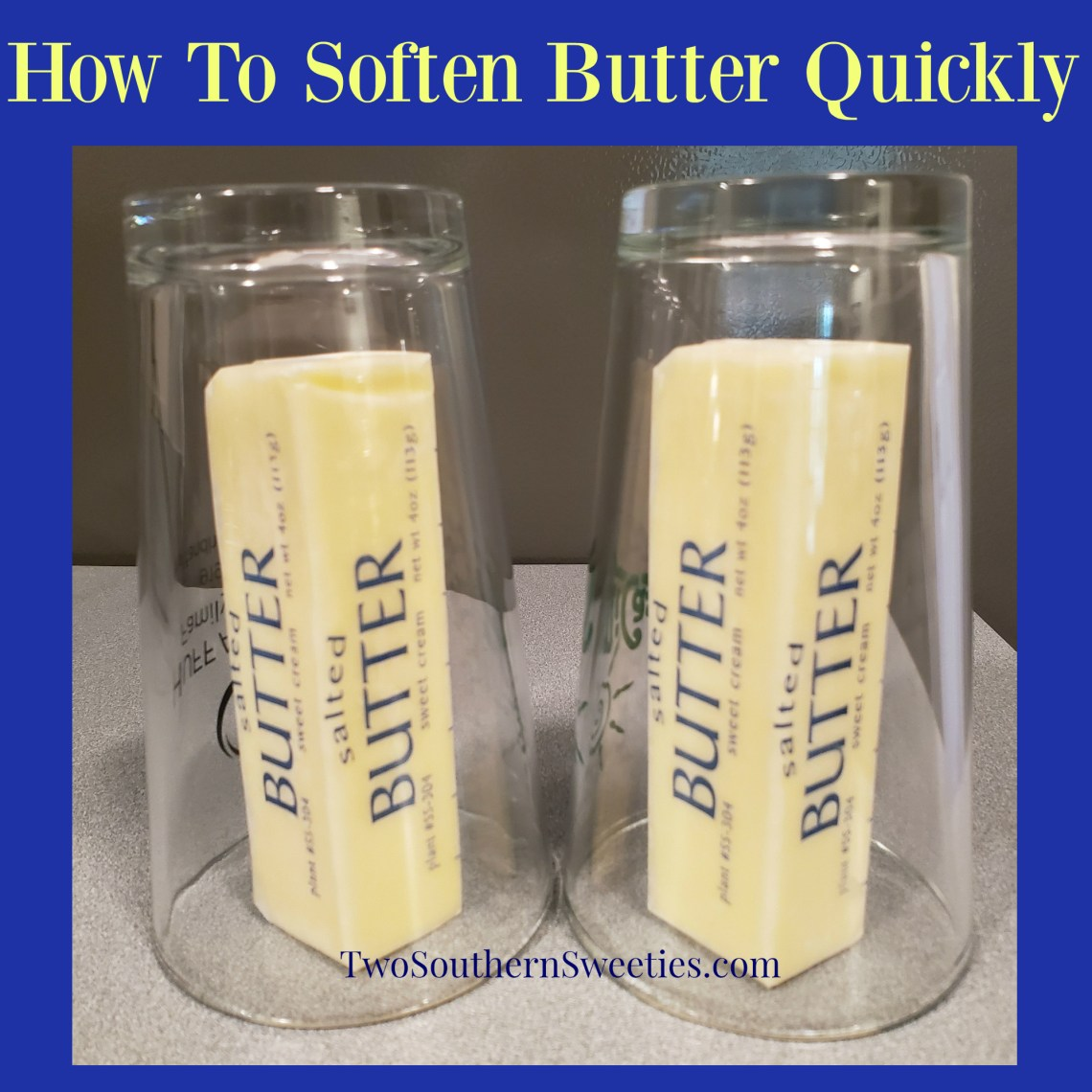 This is a great tip on how to soften butter quickly without melting it and without having to soften butter in a microwave. Soften butter for baking #howtosoftenbutter