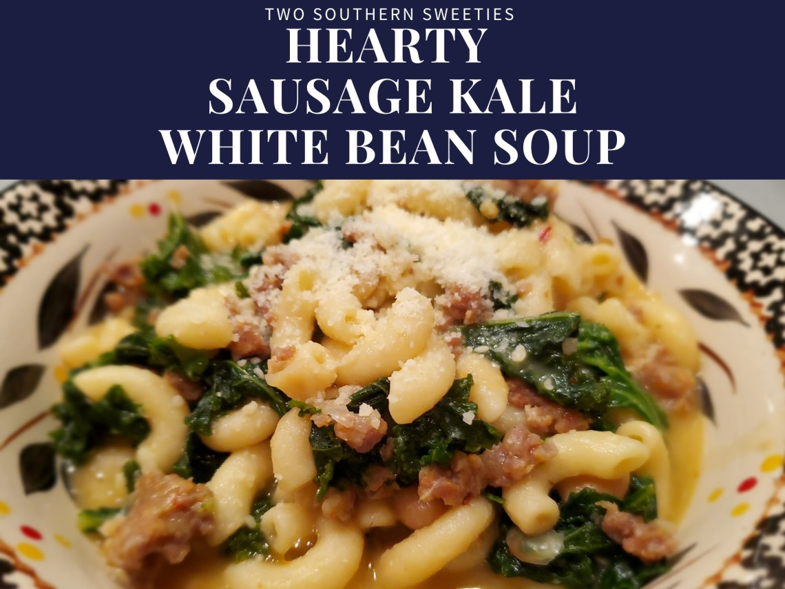 This hearty comfort food soup eats like a meal. With pasta, Italian sausage, kale, white beans and a broth that turns creamy as it cooks.