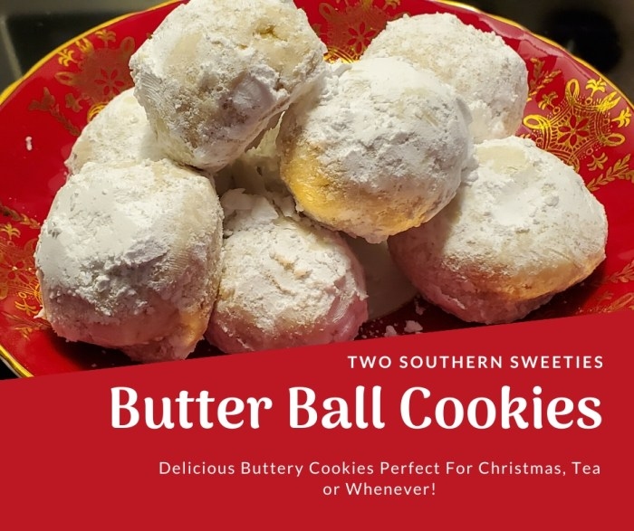 Butter Ball Cookies are a buttery cookie with chopped walnuts and rolled in powdered sugar. Wonderful for Christmas cookies, tea cookies or anytime. #Christmas #cookies