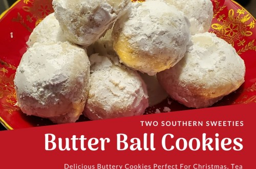 Butter Ball Cookies Buttery cookies with pecans and rolled in powdered sugar. Christmas Cookies, Tea Cookies #christmascookies