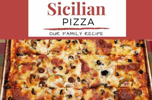 This is our authentic Sicilian pizza recipe. This is a family recipe that has a focaccia crust, cheese and pepperoni | Italian Food | #pizza
