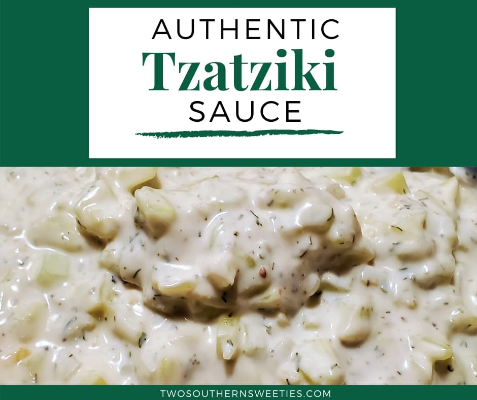 This Tzatziki sauce is creamy, filled with cucumbers and delicious authentic Greek flavor. Great on Greek Gyros, lamb burgers, turkey burgers, chicken and fish. | Greek Recipes | Greek Food | Sauces | #greekrecipes