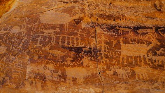 Kohta Circus Petroglyphs - Gold Butte National Monument - Nevada