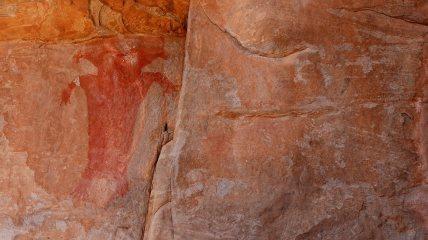 Red Man Panel - Fort Pearce - Utah - États-Unis