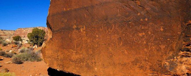 Cedar Point Petroglyphs - Mexican Hat - Utah - États-Unis