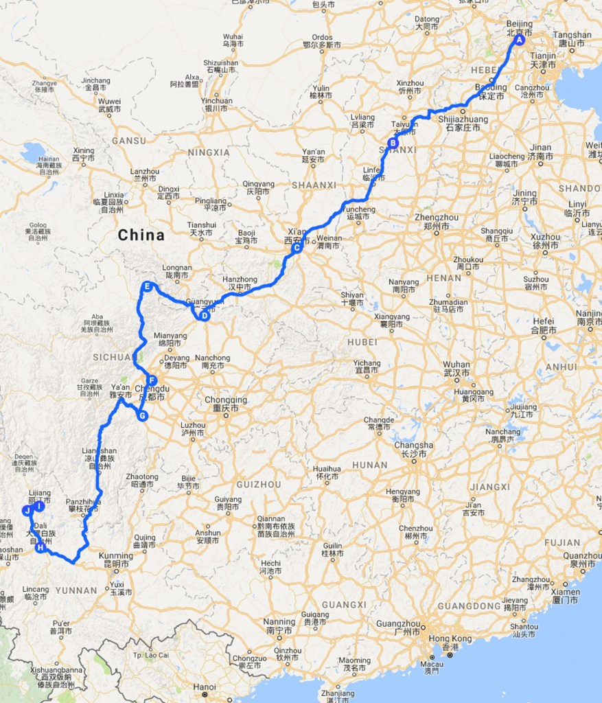 Our itinerary in China