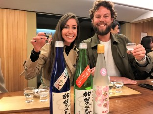 Sake tasting in Kanazawa