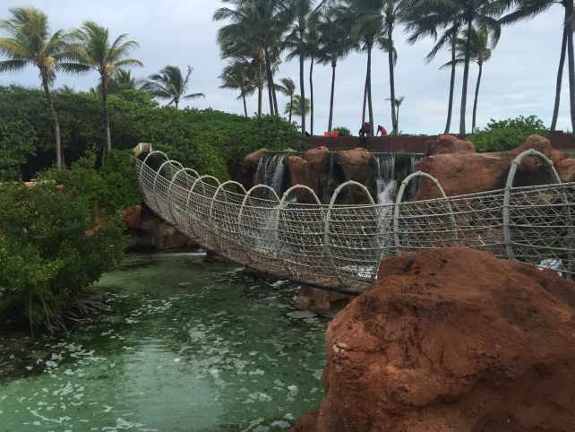 "Rope bridge I found while exploring - ""The Secrets of Atlantis in the Bahamas"" - Two Traveling Texans"