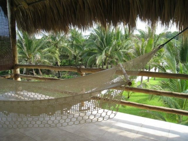 We could relax in the hammock on the balcony