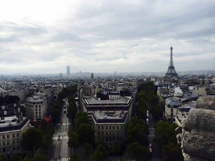 "View of the Eiffel Tower from the Arc de Triomphe - ""12 Random Observations about Paris, France"" - Two Traveling Texans"